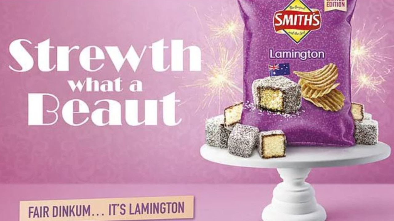 Earlier this year Smiths launched lamington-flavoured chips.