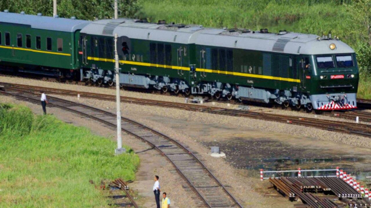 Kim's 'pleasure train' moves through China during a 2010 visit.