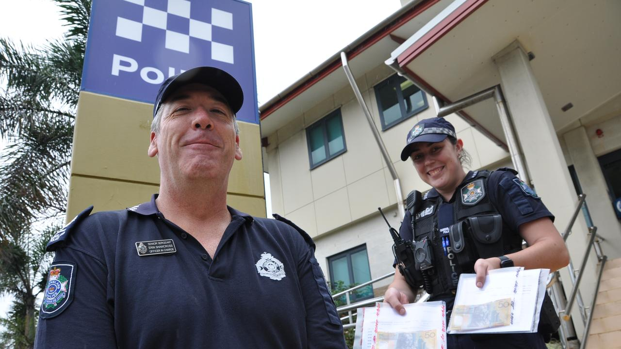 Yeppoon Police Snr Sgt Erin Shawcross and Constable Jess Dare are asking businesses to be aware of counterfeit $50 notes