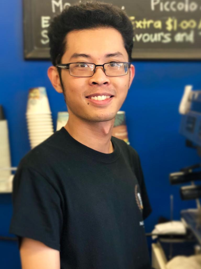 Next Chapter Cafe owner Hien Tran is offering takeaway to customers during the outbreak.