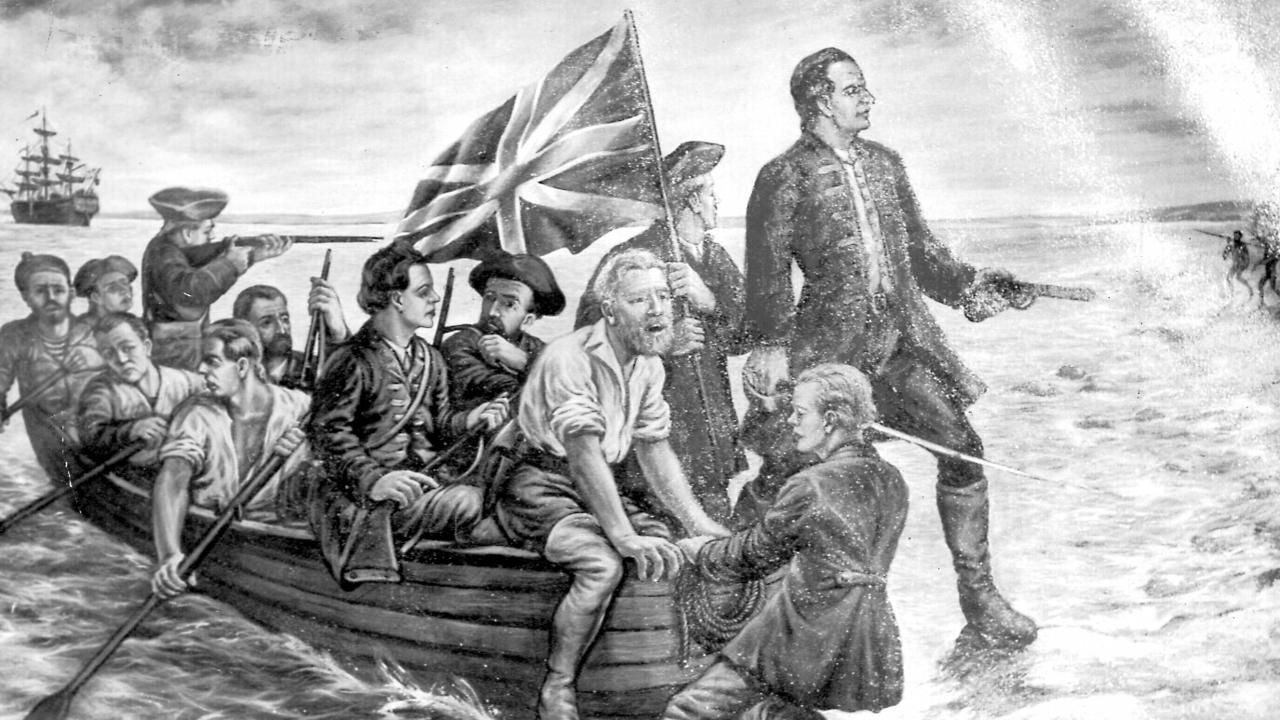 Captain James Cook after sailing into Botany Bay.