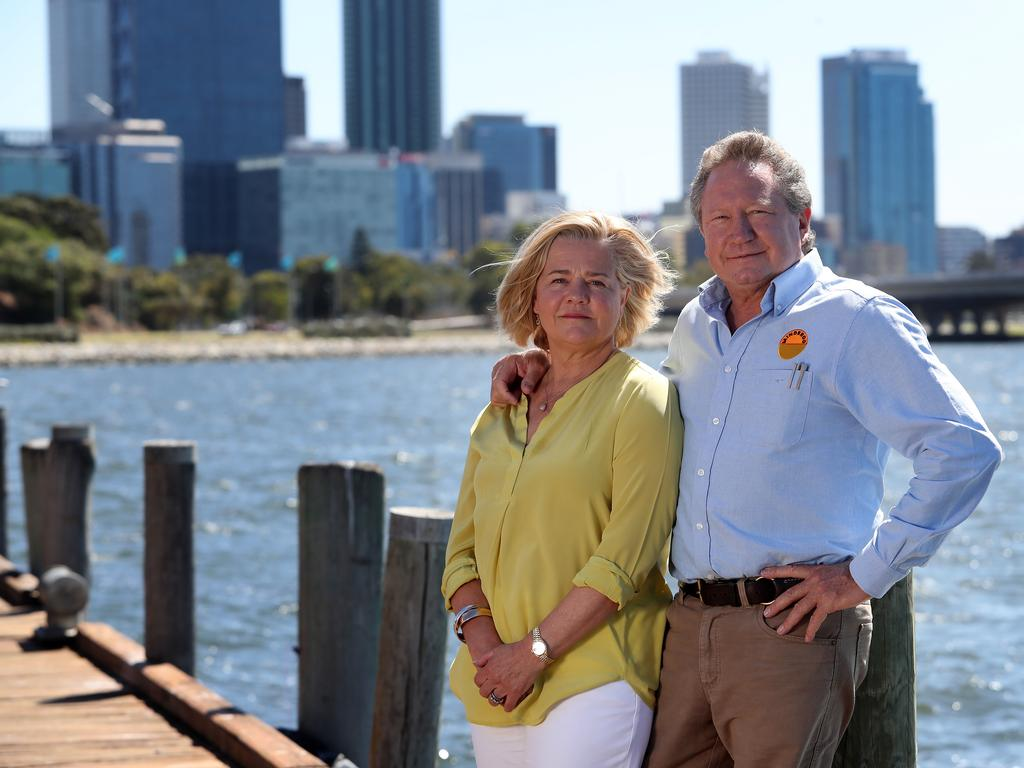 Minderoo was established by Nicola and Andrew Forrest. Picture: Colin Murty