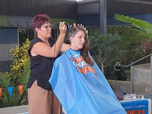 Close second for school's yearly shave