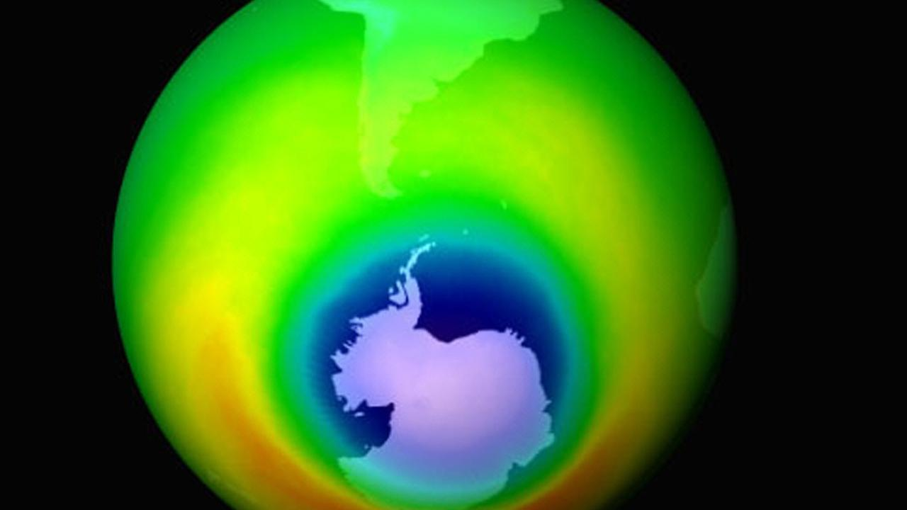 A tear in the ozone layer the size of Greenland has closed. Picture: AP/NASA