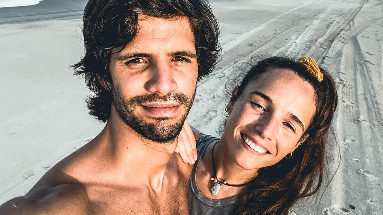 'I really hope we can get back home'. Argentinian couple Delfina Olaciregui and Fede Lamas.