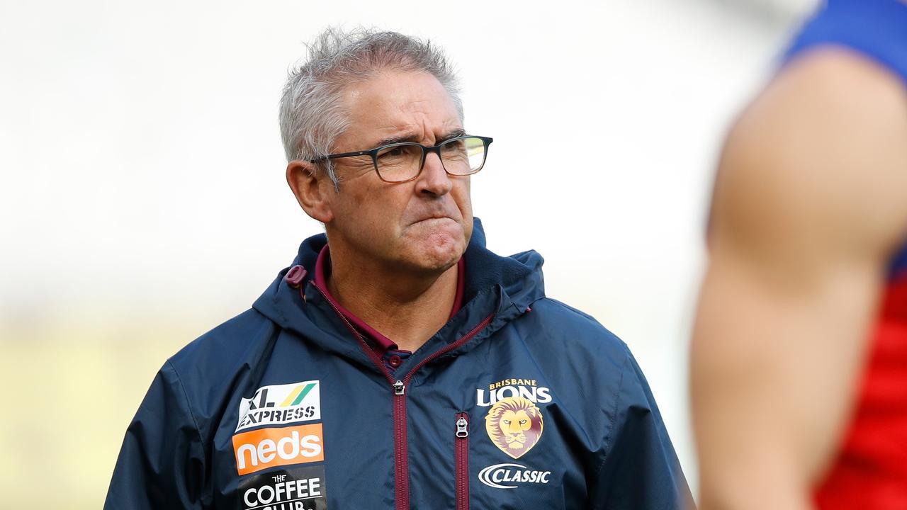 Brisbane coach Chris Fagan got a big dose of perspective. Picture: Dylan Burns