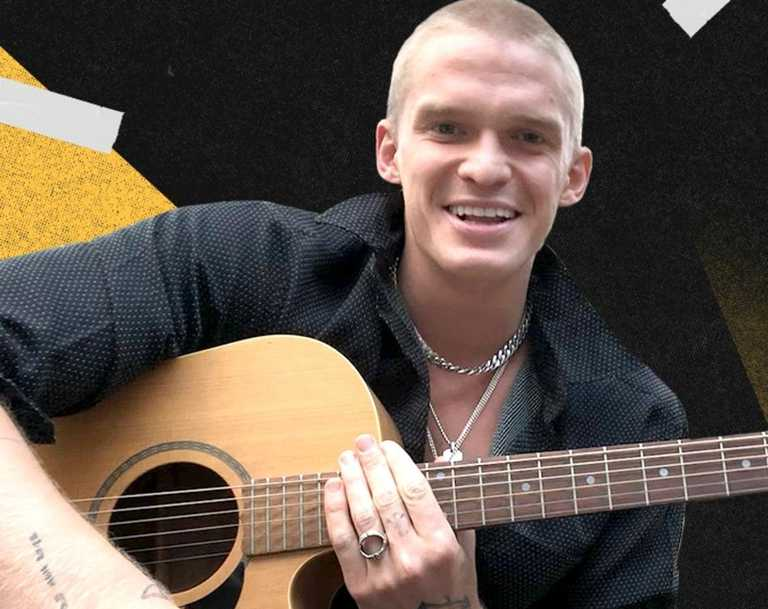 """Cody Simpson says playing with his acoustic guitar is """"liberating"""". Picture: Supplied"""