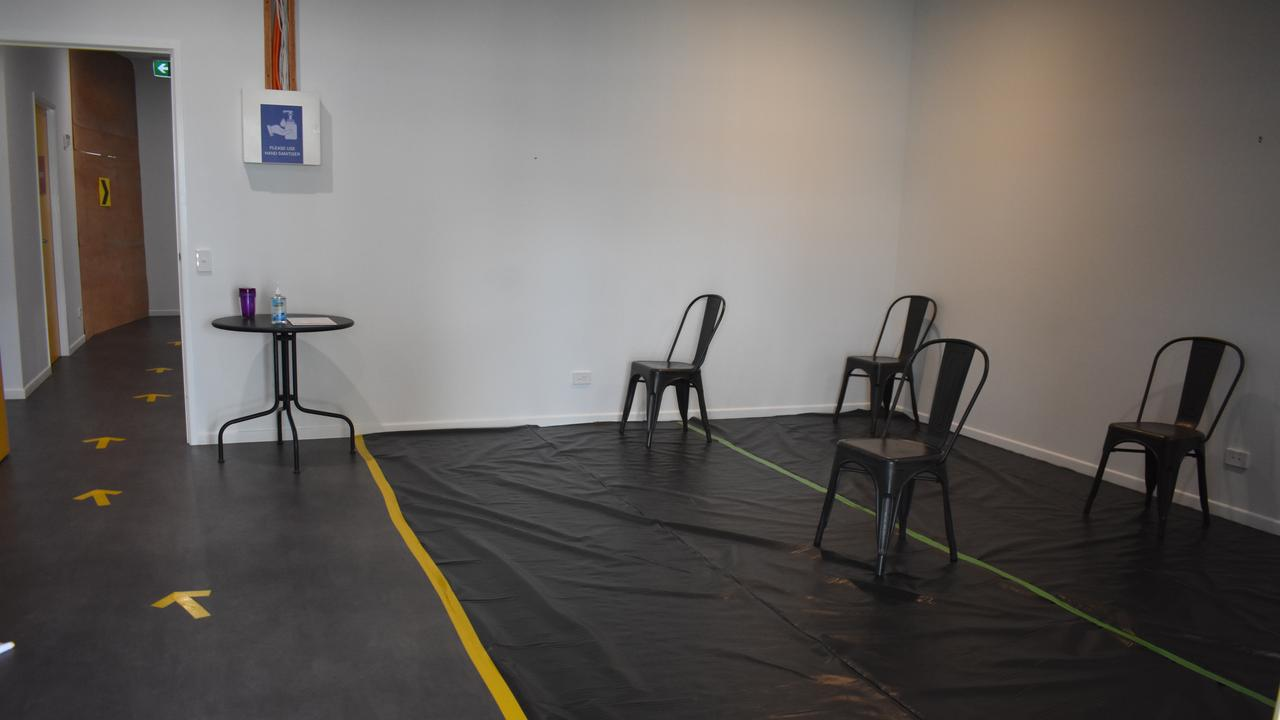The waiting room at the North Mackay Covid-19 testing clinic. Picture: Melanie Whiting