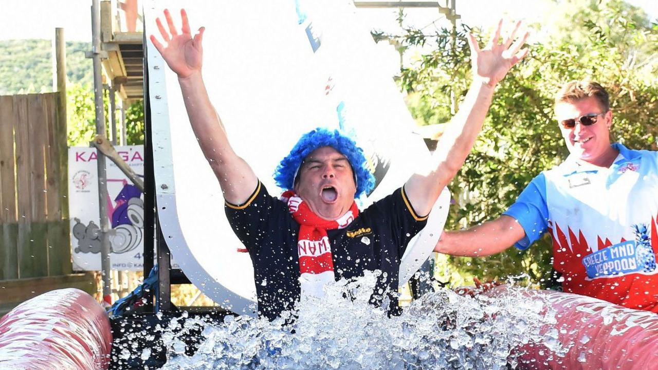 RAISING FUNDS: Craig Lanson took the FreezeMND challenge with gusto last year.