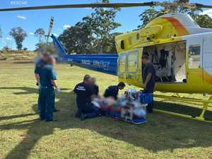 Man airlifted after he was hit by falling tree branch