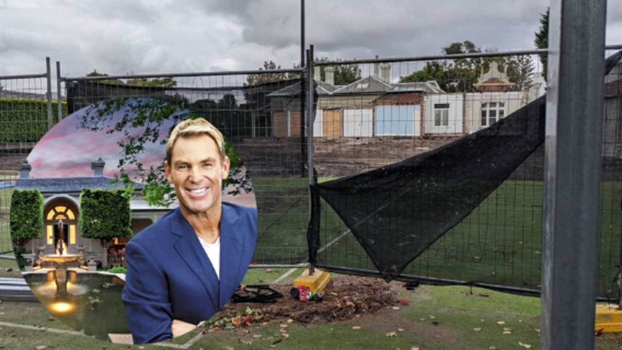 Shane Warne's beloved mansion that he bought and sold twice — renovating and extending it luxuriously — has been dramatically bowled over by the new owner.