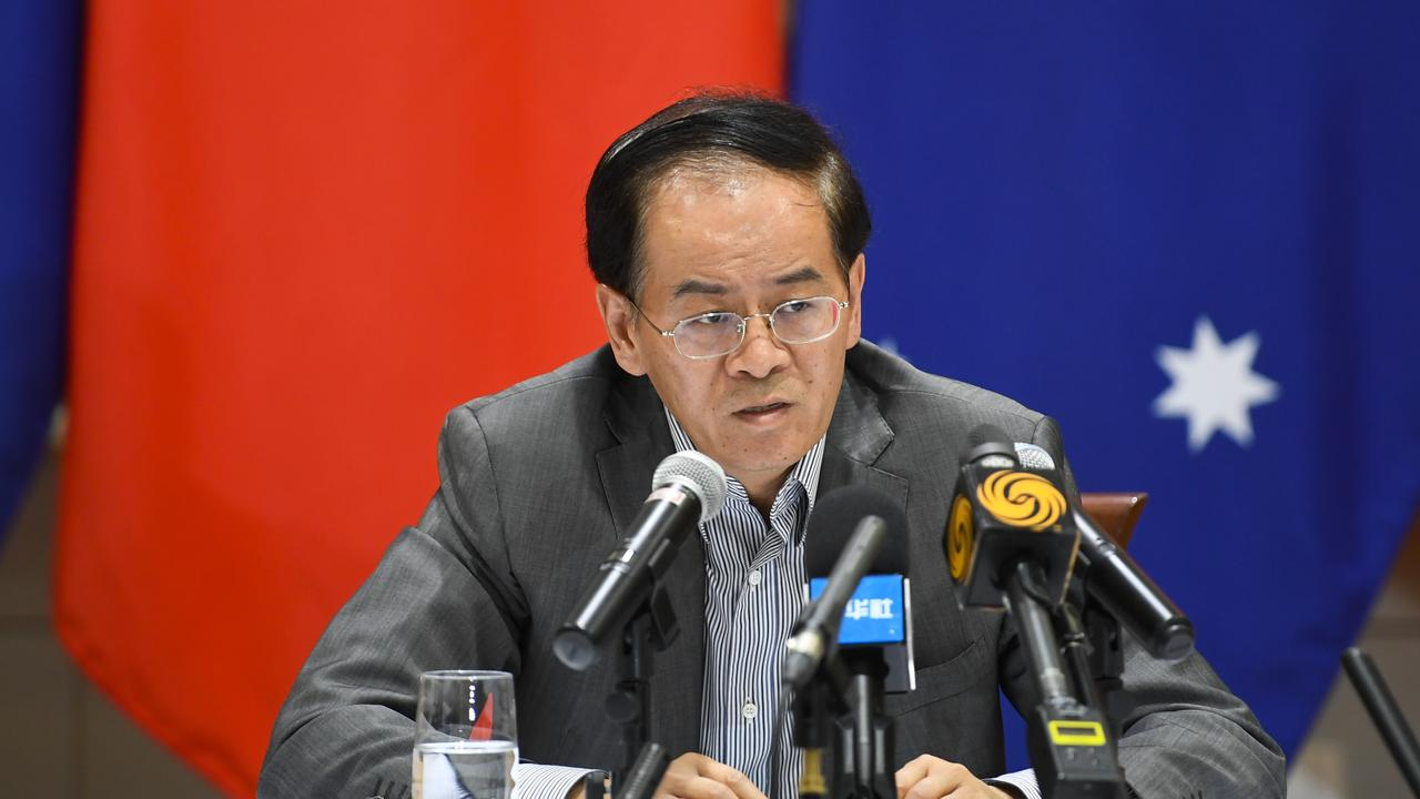 Chinese Ambassador to Australia Cheng Jingye has warned of consequences if Australia continues to push for an independent coronavirus inquiry. Picture: Lukas Coch/AAP