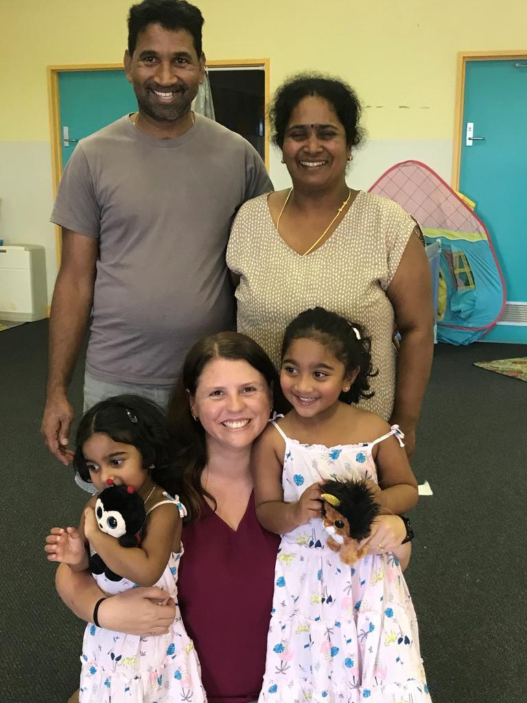 Tamil family on Christmas Island.
