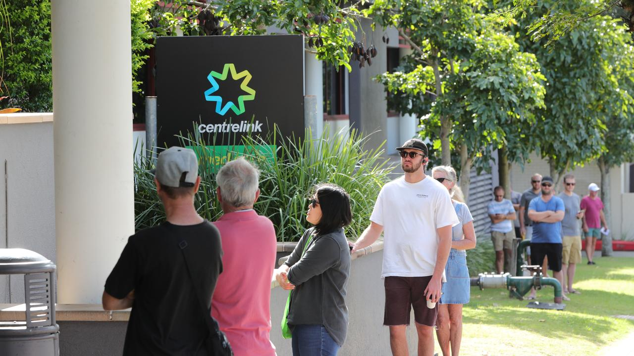 The Department of Social Services has estimated the coronavirus pandemic will push an extra one million Australians onto the dole queue. Picture: Glenn Hampson