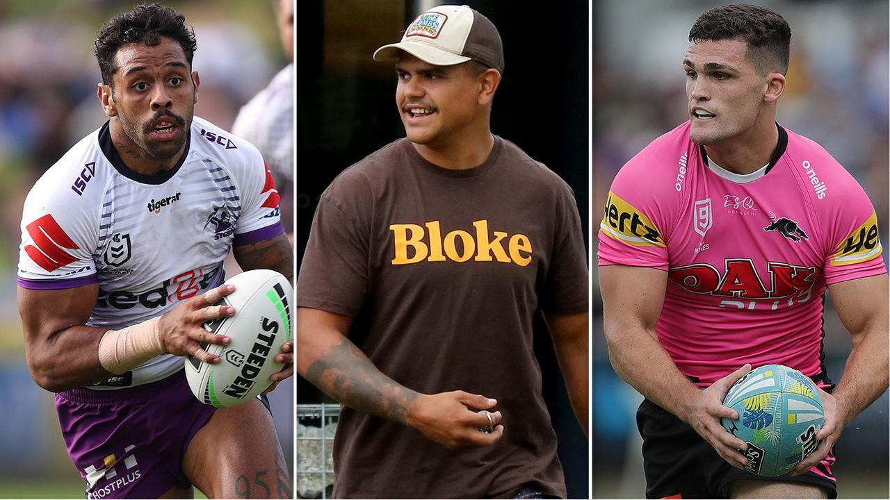 Josh Addo-Carr, Latrell Mitchell and Nathan Cleary.