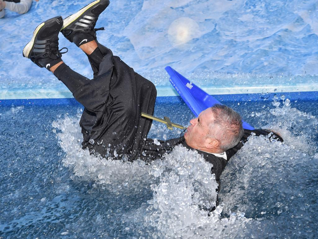 Chris Fagan took part in Neale Daniher's Big Freeze at the 'G in 2018. Picture: Jason Edwards