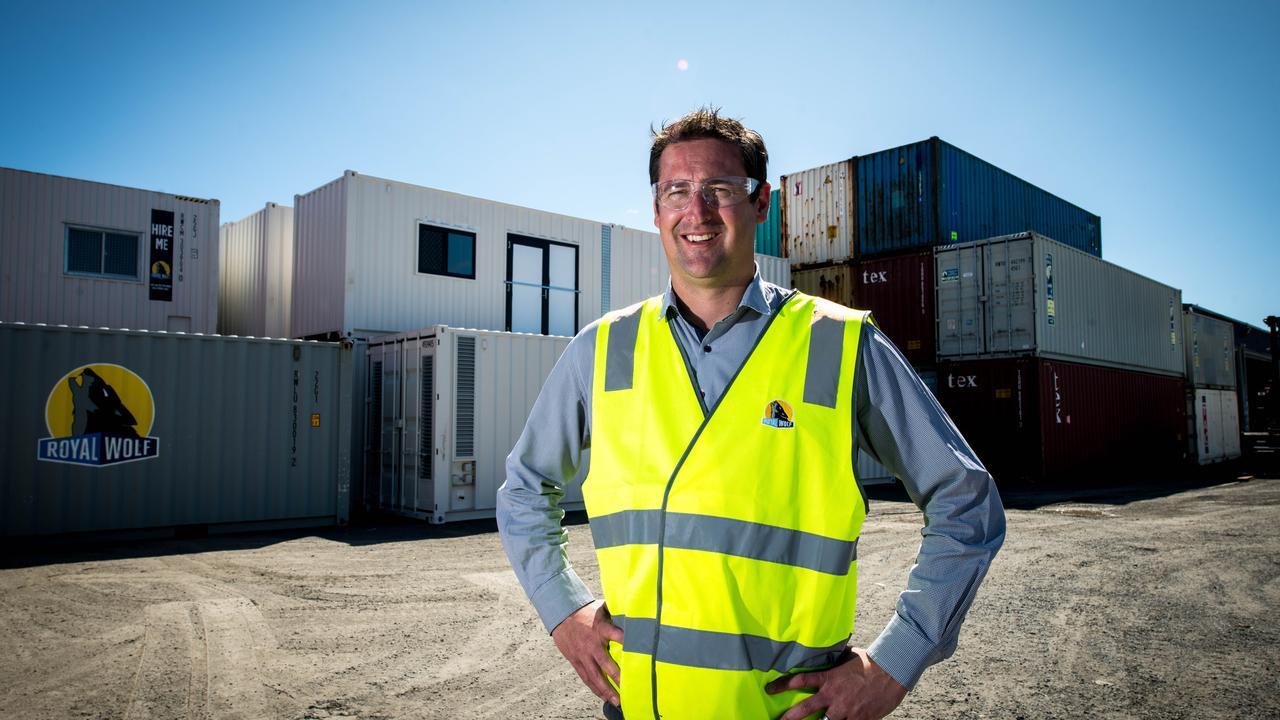 Royal Wolf business development manager (Tas) Michael Nicholson. Photo: Alastair Bett