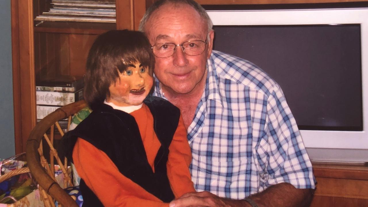 The late Col Goldston with ventriloquist dummy 'Jerry'. Picture: Contributed.