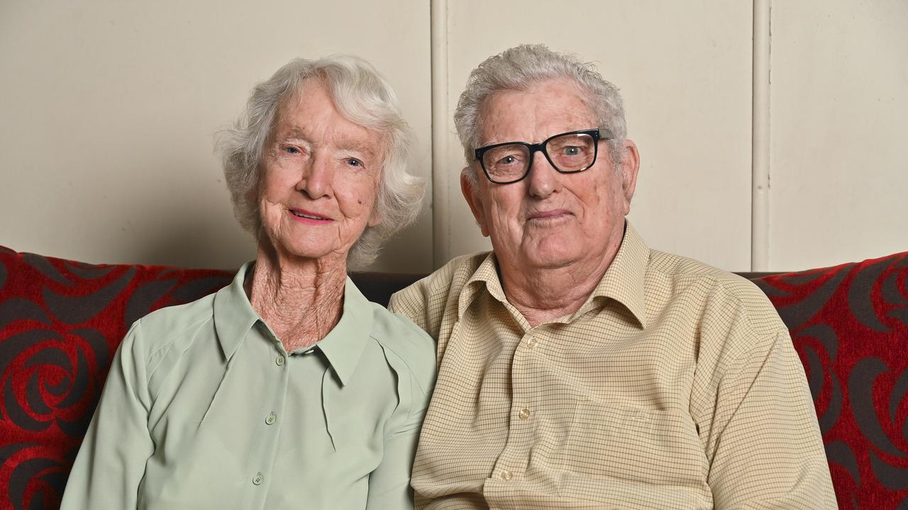 Valmai and Keith McDonald celebrate their 60th wedding anniversary on Saturday. Picture: Cordell Richardson