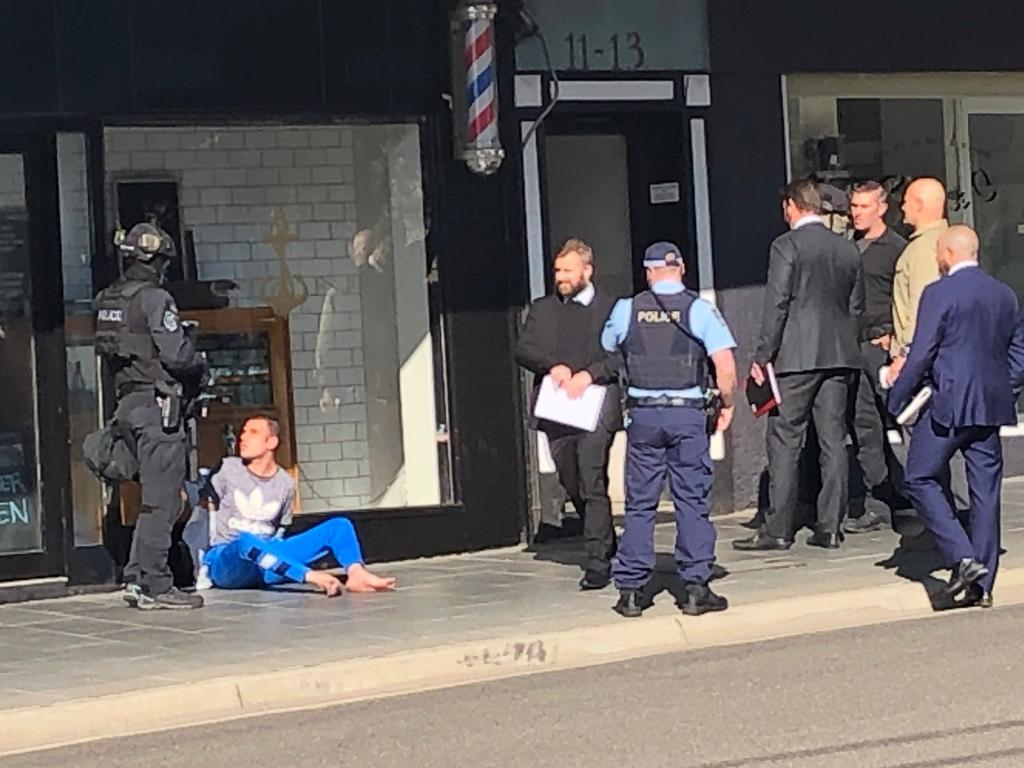 Police block off Havelock Ave, Coogee, this morning. Picture: James Law/news.com.au