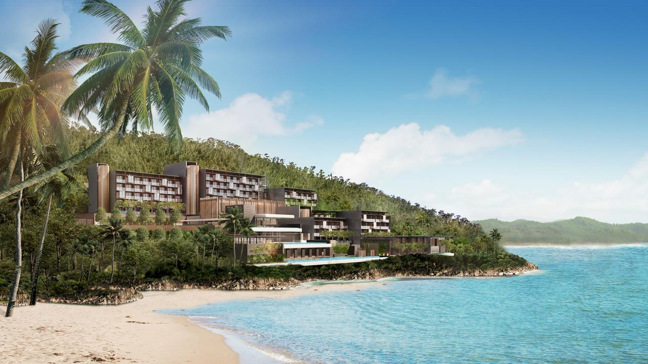 Artist impression of the luxury hotel to be built at Funnel Bay.