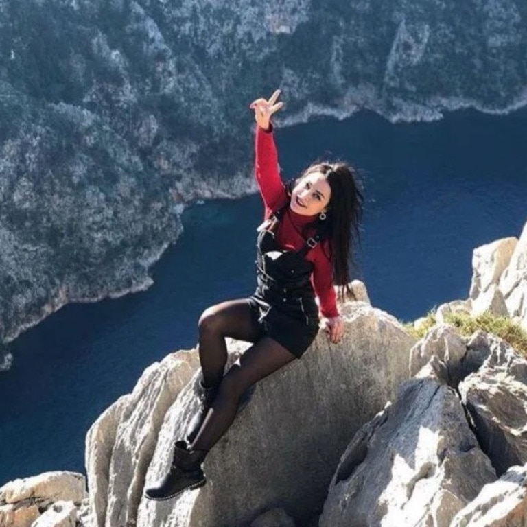 Olesya Suspitsyna, 31, originally from Kazakhstan, was killed on a at the popular Duden Park in the city of Antalya, Turkey, on Sunday. Picture: Instagram