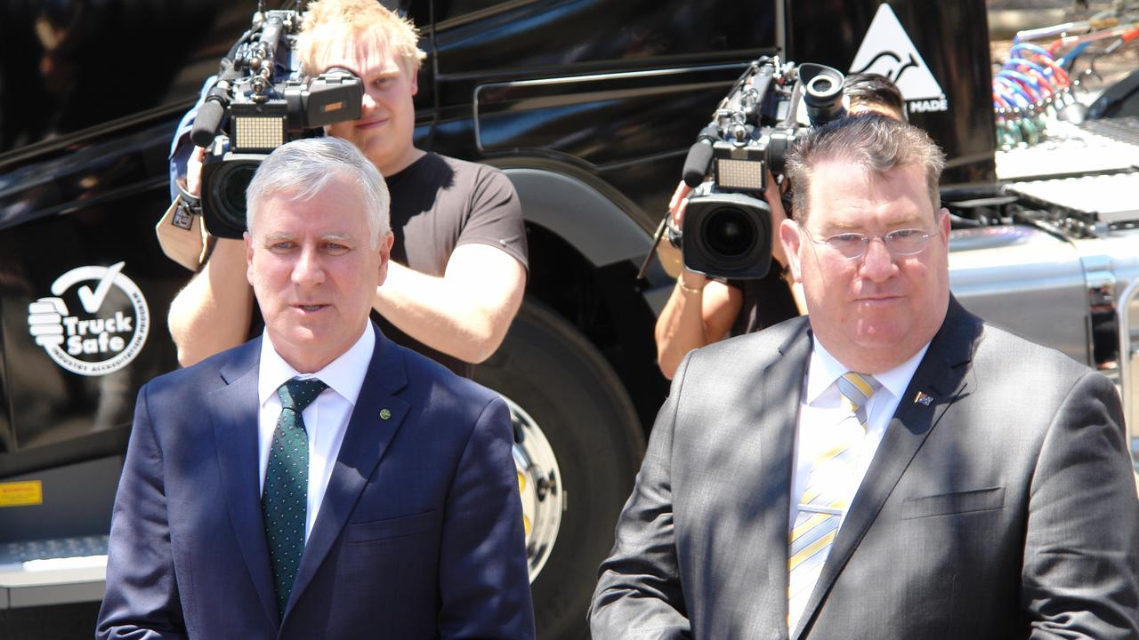 TAX BREAK: The industry made sure that Deputy Prime Minister Michael McCormack and Scott Buchholz listened to their challenges.
