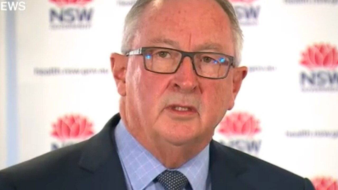 Supplied Editorial NSW Health Minister, Brad Hazzard, gives COVID-19 update on 02 May,  2020. Picture: 9NEWS