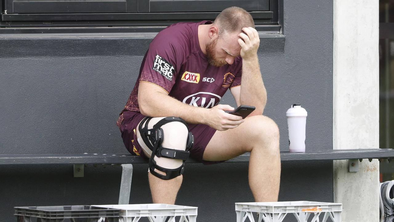 Lodge thought his injury would wipe 2020 out. Photo: Peter Wallis
