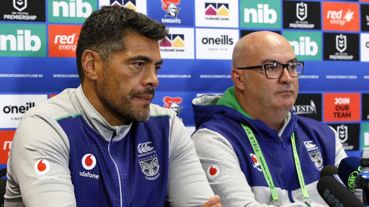 Warriors coach Stephen Kearney and CEO Cameron George. Picture: Darren Pateman.