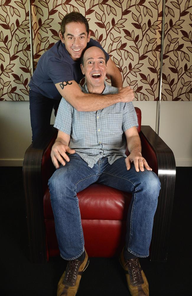 Robert Maschio and Sam Lloyd from Scrubs pictured on their visit to Perth, Australia five years ago.