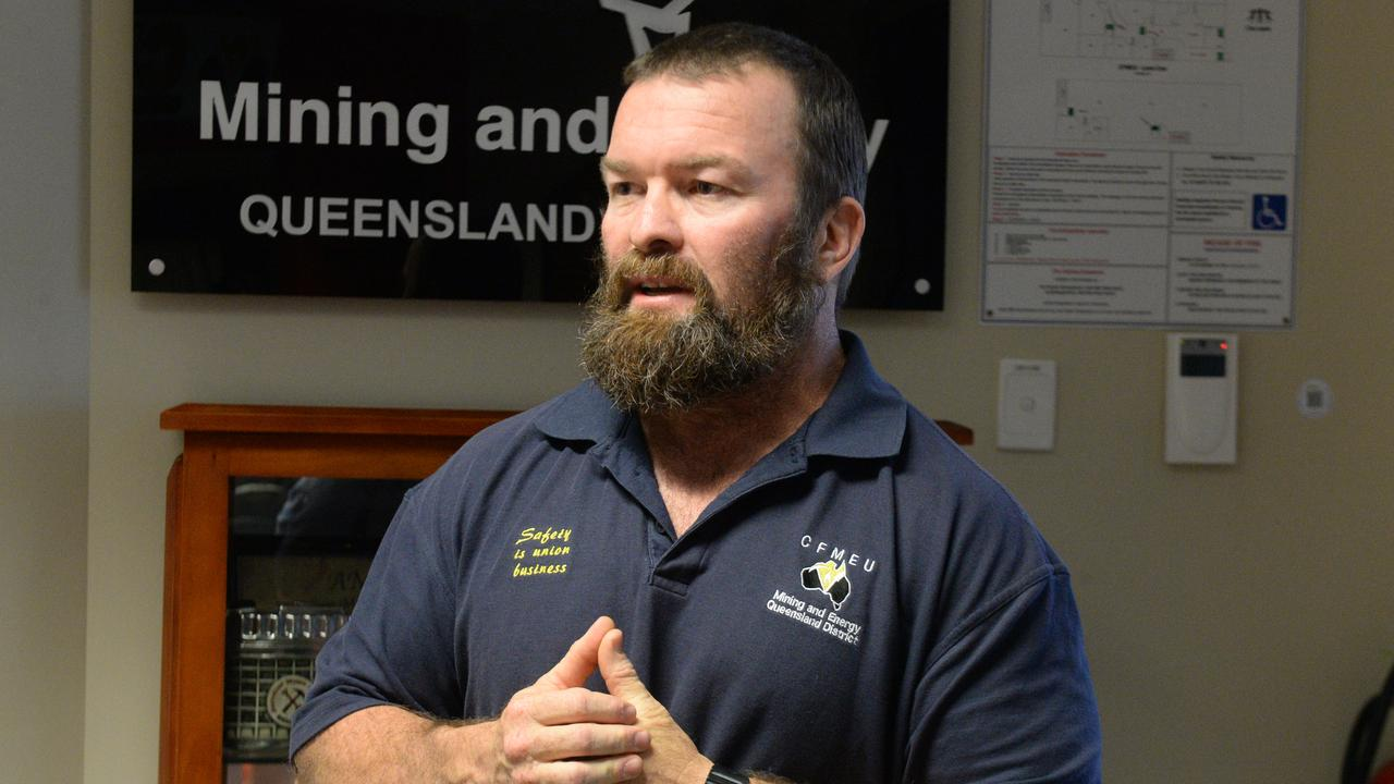 CFMEU Mining and Energy Queensland District president Stephen Smyth.