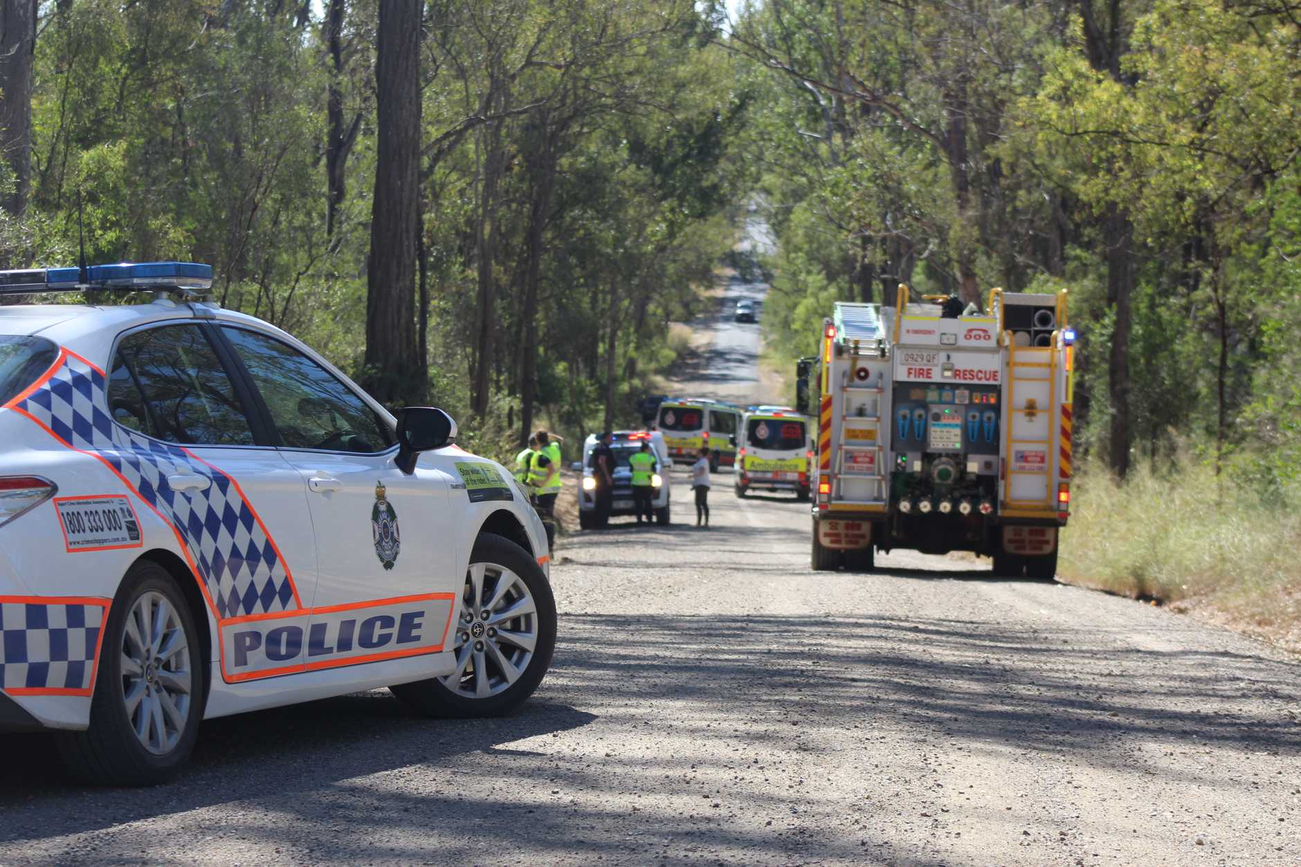 A person was injured in a motorbike crash near Kingaroy.