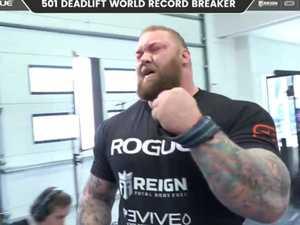 The Mountain smashes freak world record