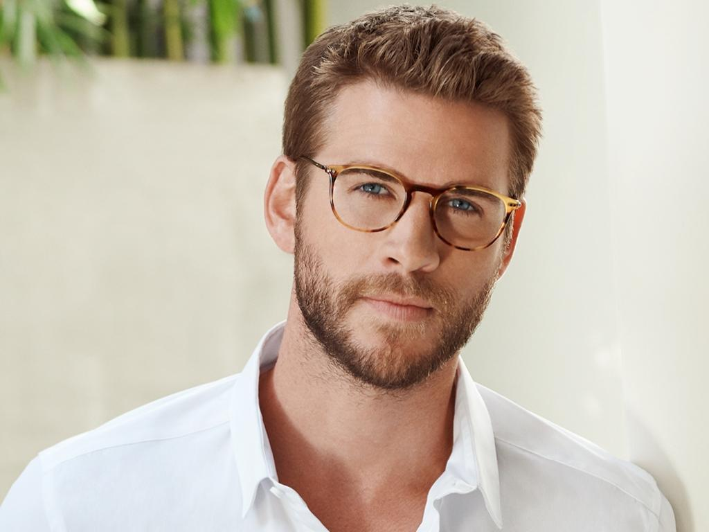 Liam Hemsworth in the latest campaign for OPSM eyewear. Picture: Hugh Stewart
