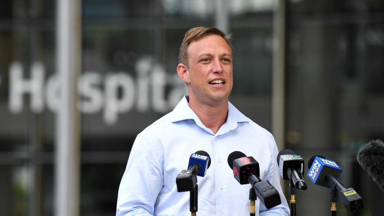Queensland Health Minister Steven Miles. (AAP Image/Dan Peled)