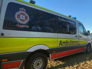 Motorbike rider hospitalised after hitting cow