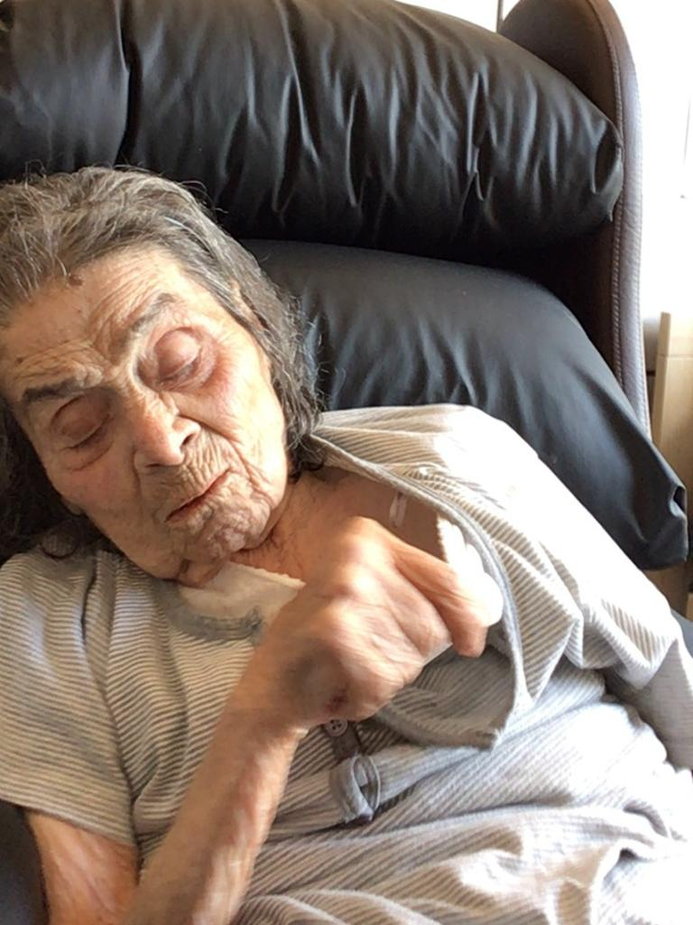 Mrs Constanti during her daughter's last FaceTime video call just a few days before she died. Picture: Supplied