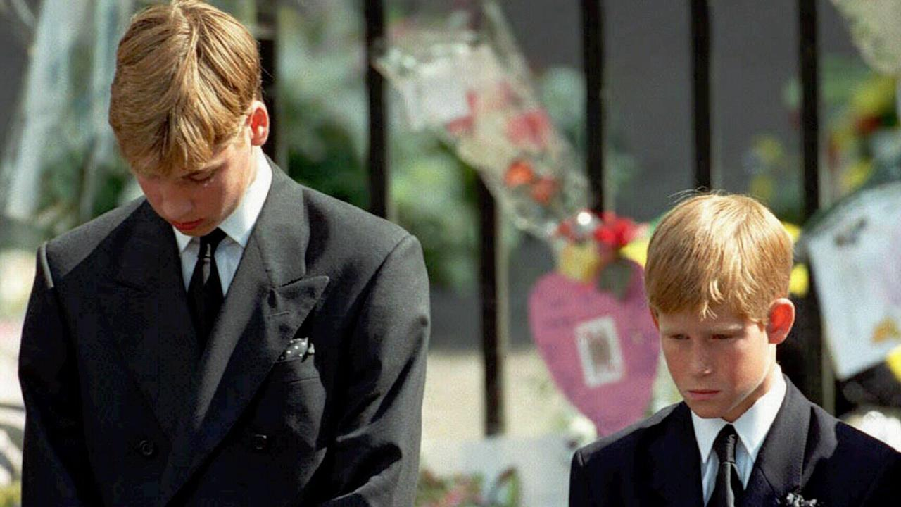 "Prince Harry was just 12 when Diana, Princess of Wales, died. He has likened the ""ruthless campaign"" against Meghan to the scrutiny his mother faced. Picture: AP Photo."
