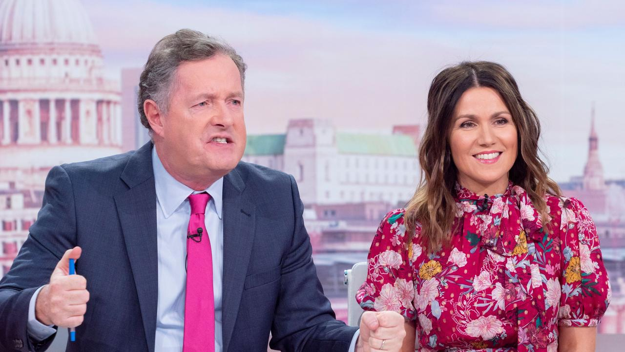 Piers Morgan and Susanna Reid on Good Morning Britain. Picture: Ken McKay/ITV/Shutterstock