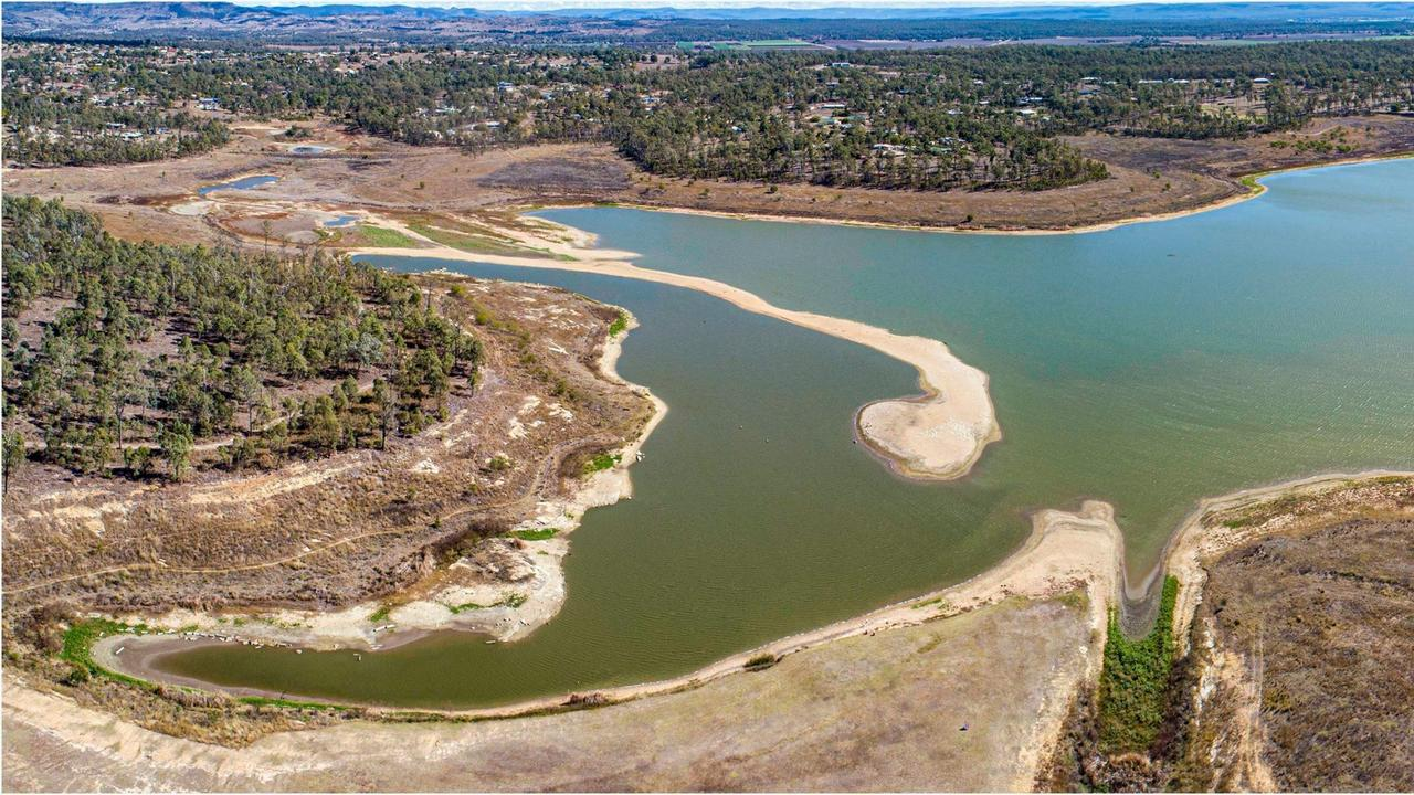 Lake Dyer and Bill Gunn Dam, near Laidley in the Lockyer Valley.