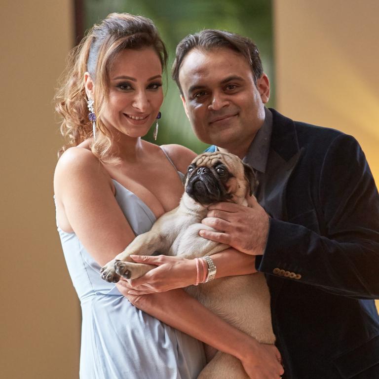 Pankaj and Radhika Oswal in 2016. Picture: Louis Kwok/The Australian