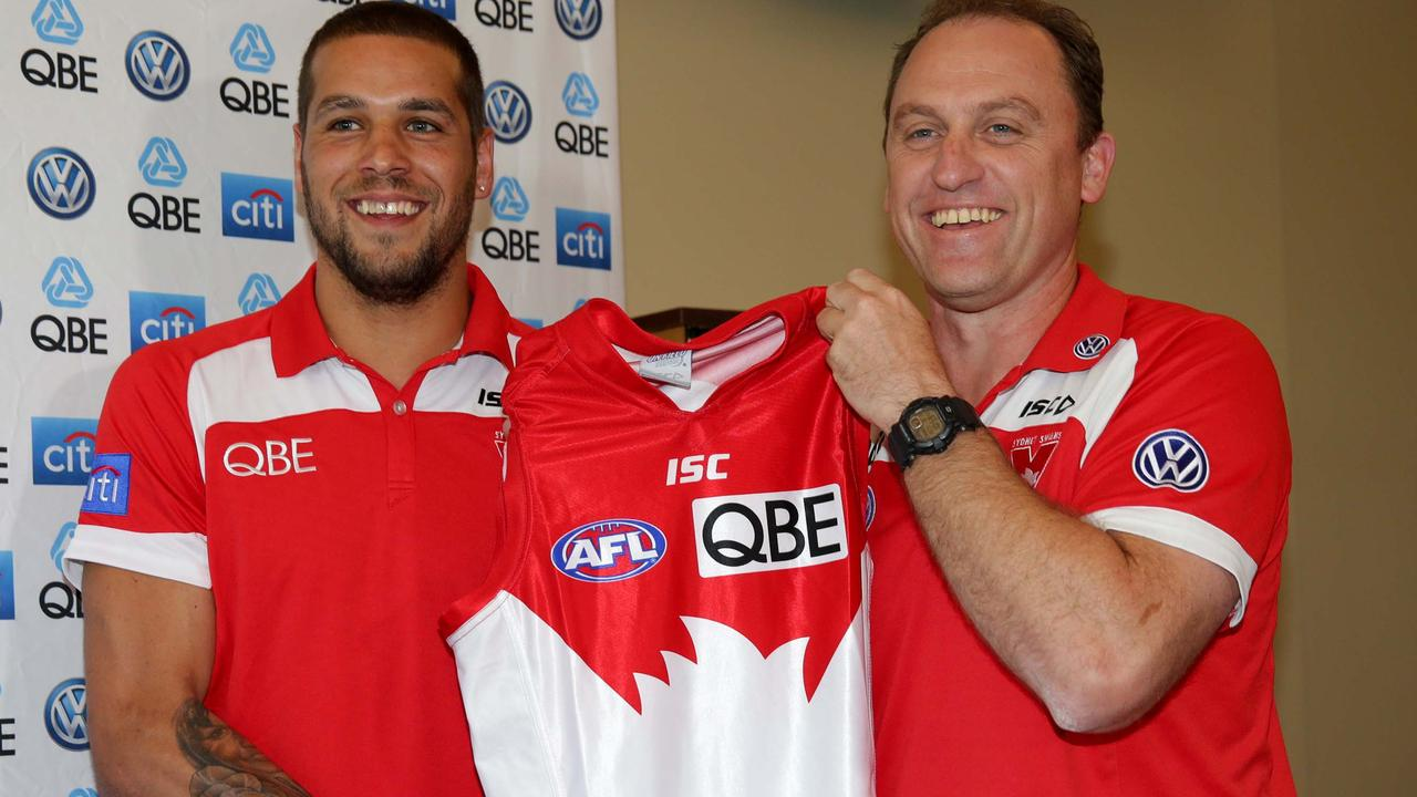 Lance Franklin signed the longest contract in AFL history when he jumped from Hawthorn to Sydney. Picture: Gregg Porteous
