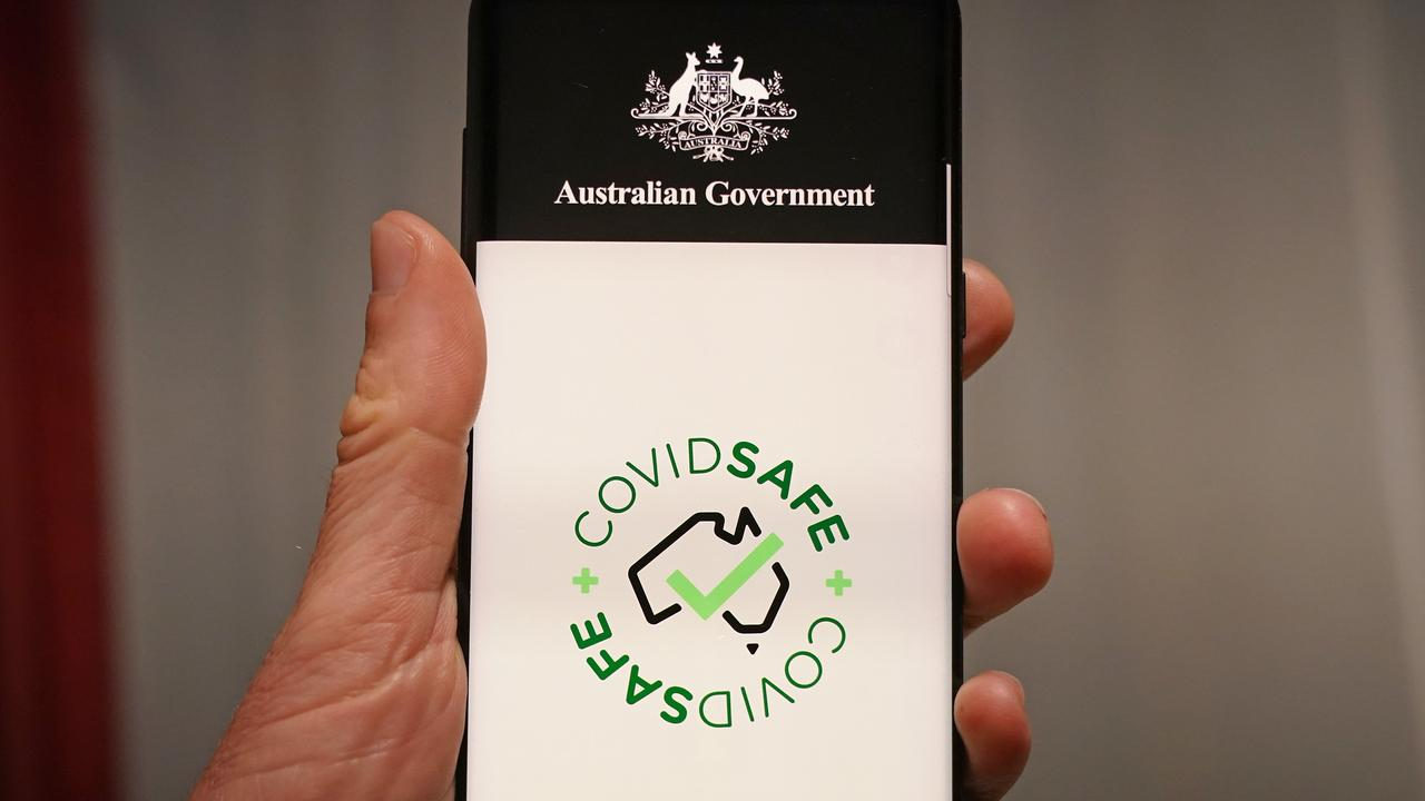 UNABLE TO DOWNLOAD: The Australian Government's new voluntary coronavirus tracing app COVIDSafe. (Picture: AAP Image/Scott Barbour)