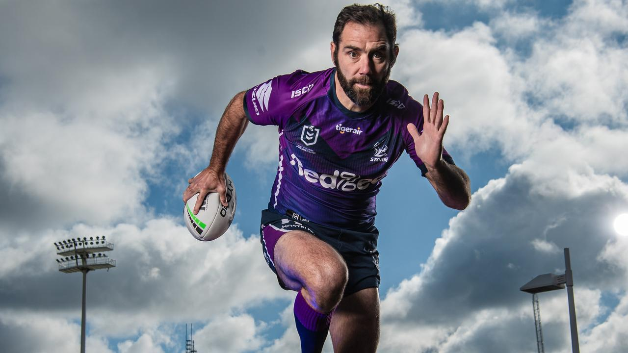 A bearded Cameron Smith returned to the club on Monday. Picture: Jason Edwards