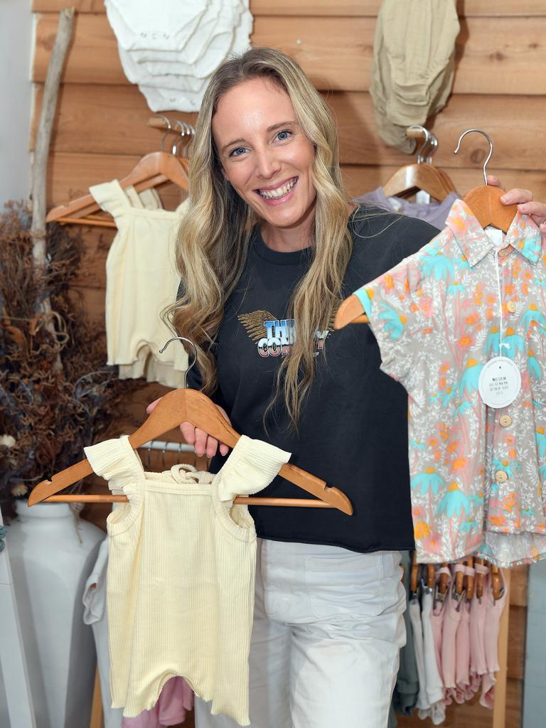 Jess Bos showing off a few of Meraki Thread Co's pieces. Photo: Warren Lynam