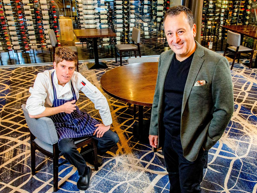 Persone head chef Shane Veivers with owner John Gambaro. Picture: Richard Walker/AAP