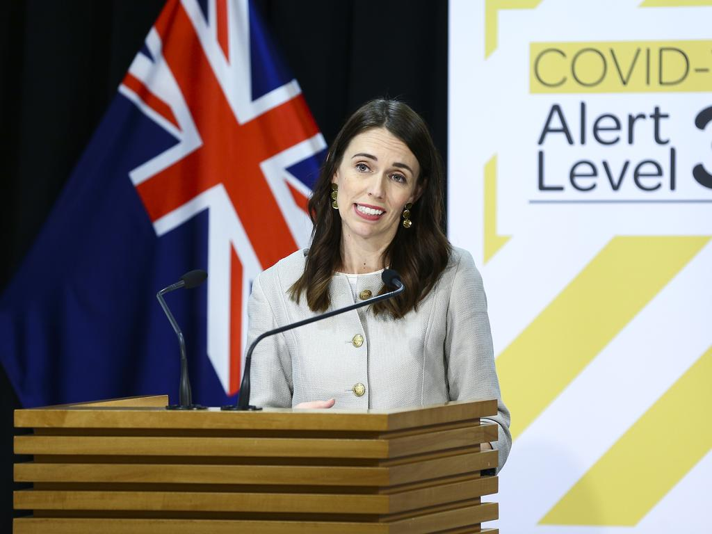 New Zealand Prime Minister Jacinda Ardern was a guest at the National Cabinet to discuss potential travel between Australia and New Zealand. Picture: Hagen Hopkins