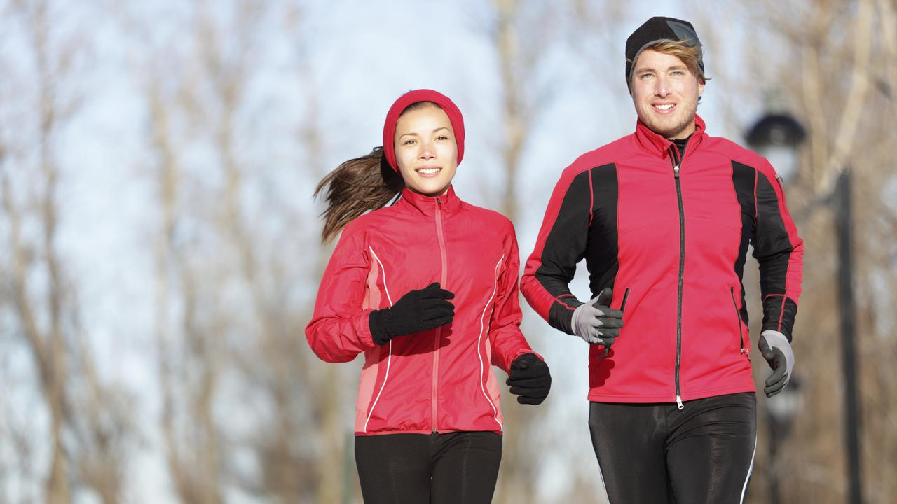 Don't stop exercising because it's cold. Rug up and get outdoors for a double benefit of exercise and vitamin D. For Feeling Great. Thinkstock pic