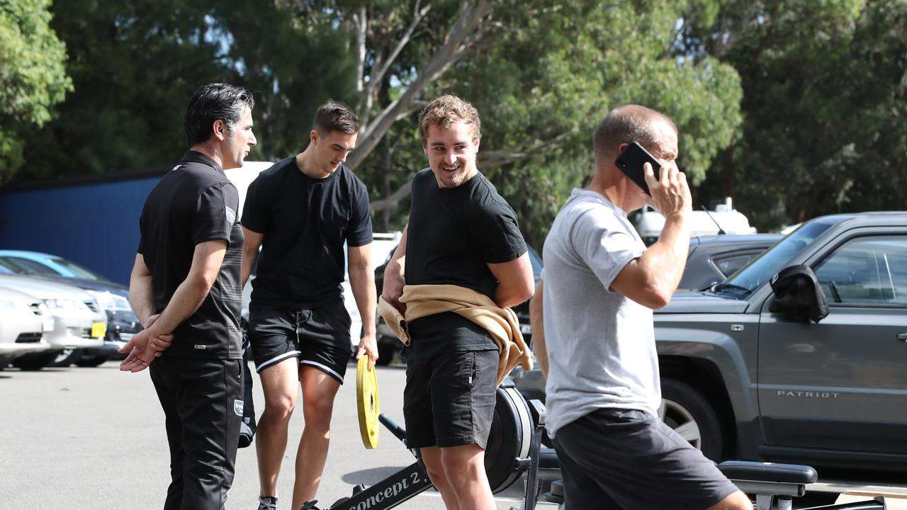 Wests Tigers are also back on the ground, returning to training at Concord. . Picture: David Swift